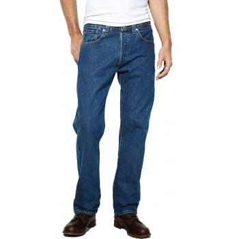 Levi's Levis Original Mens 501 Comfort Fit Jeans Stonewash Blue