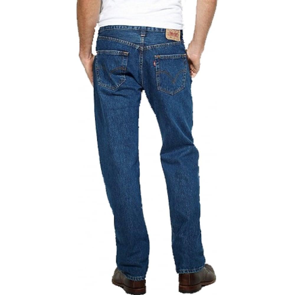 Levis Original Mens 501 Comfort Fit Jeans Stonewash Blue