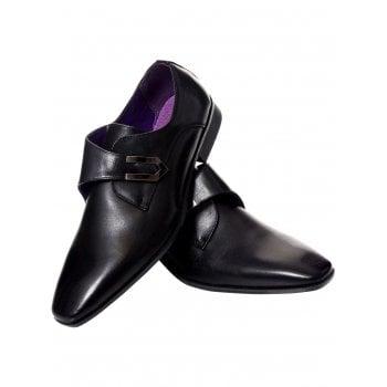 Belide Mens Belide Designer Faux Leather Shoes Smart Formal Wedding Office Black