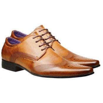 Belide Mens Belide Faux Leather Shoes Smart Formal Wedding Office Lace Up Designer Brogues