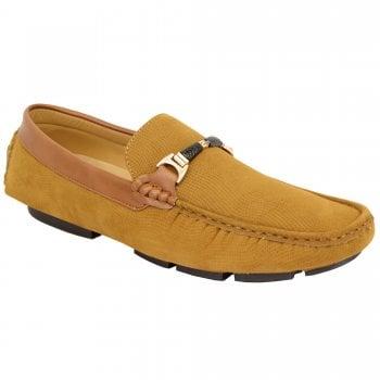 Belide Mens Belide Moccasins Suede Look Shoes Driving Loafers Slip On Italian New Camel
