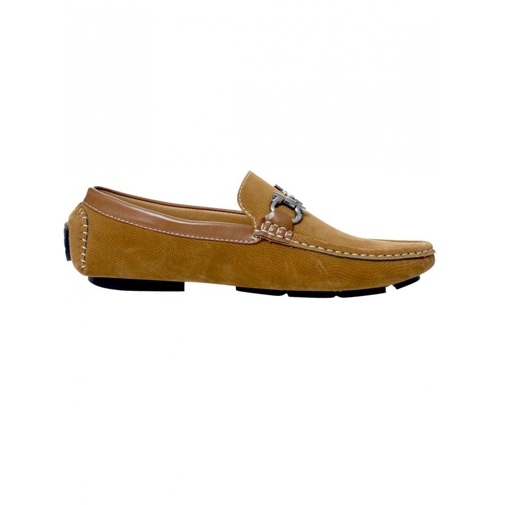 fb490610dc0d3 ... Belide Mens Belide Moccasins Suede Look Shoes Driving Loafers Slip On  Italian New Camel ...