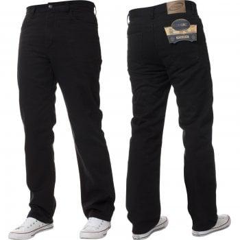 Blue Circle Mens Blue Circle Jeans Heavy Duty Workwear Basic Straight Regular Fit Black Jeans 28-60