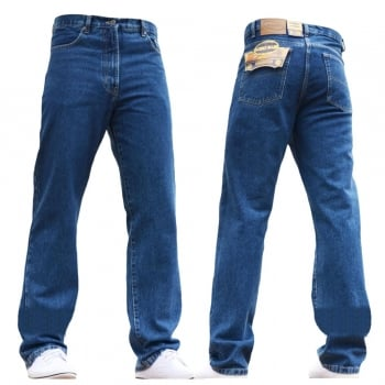 Blue Circle Mens Blue Circle Jeans Heavy Duty Workwear Basic Straight Regular Fit StoneWash Jeans 28-60