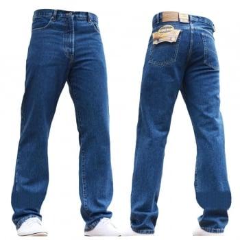 Blue Circle Mens Blue Circle Jeans Heavy Duty Workwear Basic Straight Regular Fit StoneWash Jeans 28-60