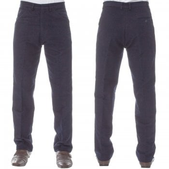 Carabou Mens Carabou New Casual Plain Moleskin Work Hunting Trousers Navy