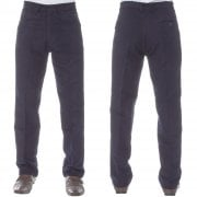 Mens Carabou New Casual Plain Moleskin Work Hunting Trousers Navy