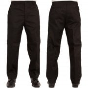 Mens Carabou New Elasticated Waist Work Casual Plain Rugby Trousers Black