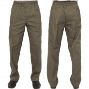 Mens Carabou New Elasticated Waist Work Casual Plain Rugby Trousers Moss