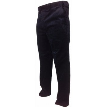 Carabou Mens Carabou New Thick Jumbo Corduroy Trousers Expandable Waist Navy