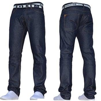 Crosshatch Mens Crosshatch New Gamitto Straignt Leg Jeans Dark Wash