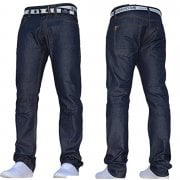 Mens Crosshatch New Gamitto Straignt Leg Jeans Dark Wash