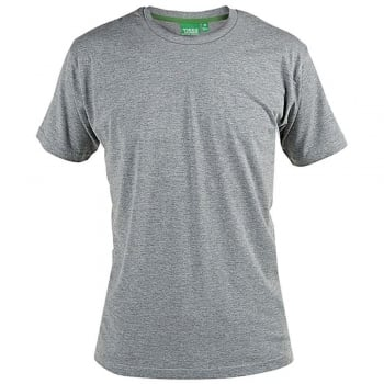 D555 Mens D555 New Premium Weight Combed Cotton King Size Crew Neck T-Shirt Grey