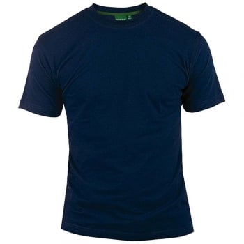 D555 Mens D555 New Premium Weight Combed Cotton King Size Crew Neck T-Shirt Navy