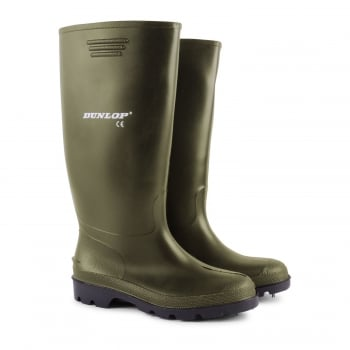 Dunlop Mens Dunlop Hunting Waterproof Walking Wellies Rain Festival Wellington Boots Green