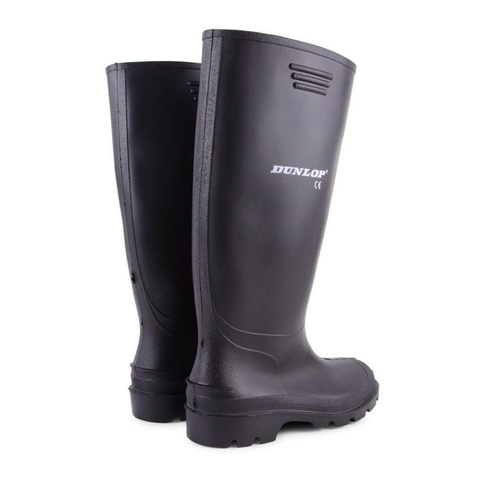 b7b99b3b287d ... Dunlop Mens Dunlop Hunting Waterproof Walking Wellies Rain Festival Wellington  Boots UK Black ...