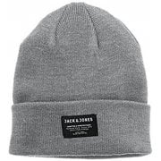 Mens Jack & Jones New Dna Knitted Beanie Grey Melange
