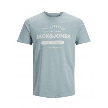 Jack & Jones Mens Jack & Jones New Jeans Designer Classic T Shirt Faded Denim