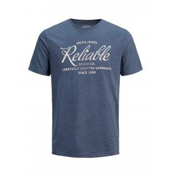 Jack & Jones Mens Jack & Jones New Print Designer Classic T Shirt Navy Blazer