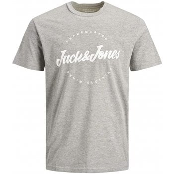 Jack & Jones Mens Jack & Jones New Raffy Designer Classic T Shirt Light Grey