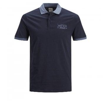 Jack & Jones Mens Jack & Jones New Sead Designer Classic Polo T Shirt Sky Captain