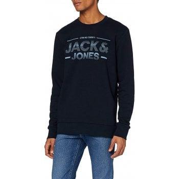 Jack & Jones Mens Jack & Jones New Sead Designer Classic Sweatshirt Sky Captain