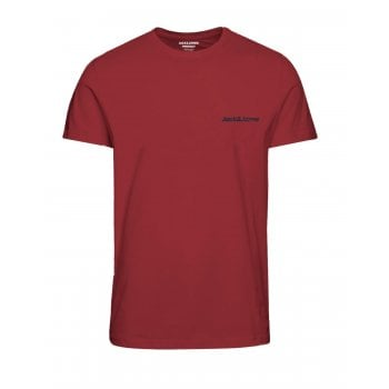 Jack & Jones Mens Jack & Jones New Traffic Designer Classic T Shirt Brick Red