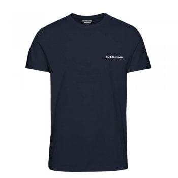 Jack & Jones Mens Jack & Jones New Traffic Designer Classic T Shirt Navy Blazer