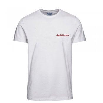 Jack & Jones Mens Jack & Jones New Traffic Designer Classic T Shirt White