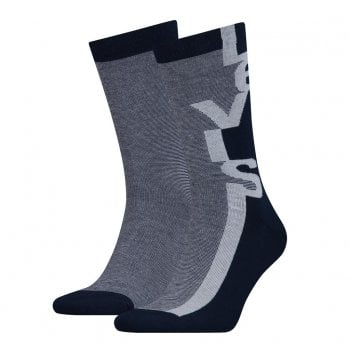 Levi's Mens Levis 2 Pack New Branded 168SF Branded Socks Black