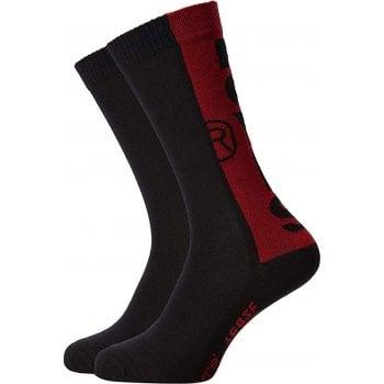 Levi's Mens Levis 2 Pack New Branded 168SF Logo Socks Black