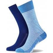 Mens Levis 2 Pack New Striped Branded 168SF Socks Blue Depths