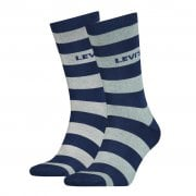 Mens Levis 2 Pack New Striped Logo Socks Blue