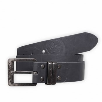 Crosshatch Mens New Belt Crosshatch Chucker Embossed Design PU Leather Look Eiffel Tower
