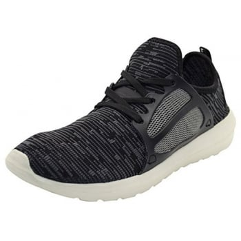 Crosshatch Mens New Crosshatch Metoric Trainers Black & Grey