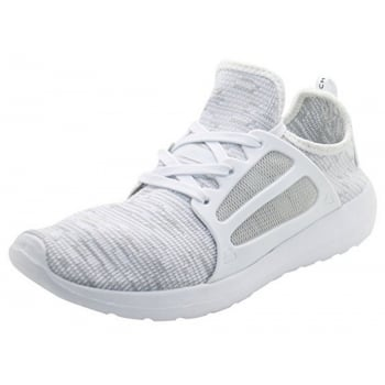 Crosshatch Mens New Crosshatch Metoric Trainers White & Lt Grey