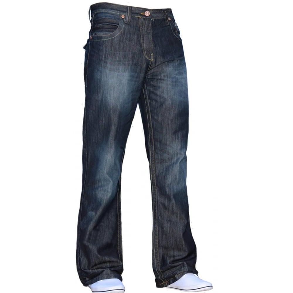 24e75c5b7b022d ... Enzo-Jeans Mens New Enzo A31 Designer Bootcut Flared Denim Dark Wash  Prime ...