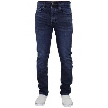 Life & Glory Mens New Life & Glory Basicon Stretch Slim Dark Wash Jeans