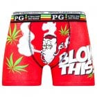 Mens PG Men's Blow This Cartoon Novelty Boxer Shorts Trunks Red