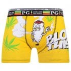 Mens PG Men's Blow This Cartoon Novelty Boxer Shorts Trunks Yellow