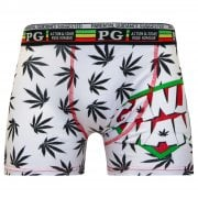 Mens PG Men's Ganja Man Cartoon Novelty Boxer Shorts Trunks Grey