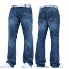 Mens Smith & Jones New Zuccio Bootcut Leg Jeans Stonewash