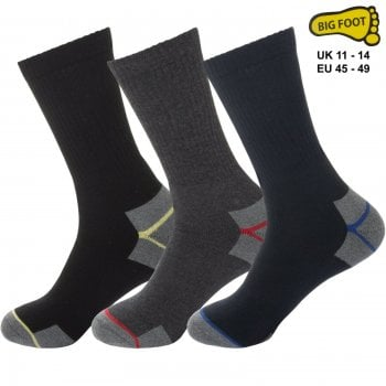 Mens Thick Work Heavy Duty Socks Builders Boots Workwear Big & Tall Sock UK 11-14