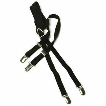 Merc London Black  1/2 14mm Thin Mens Punk Mod Braces