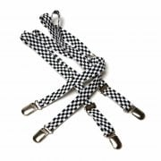 Merc London Black White Checker 1/2 14mm Thin Mens Punk Mod Braces
