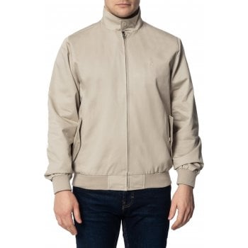 Merc London Mens Vintage Retro Harrington Jacket Stone
