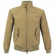 Merc London Mens Vintage Retro Harrington Jacket Tan