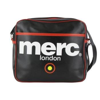 Merc London Air Line Messenger Bag Black