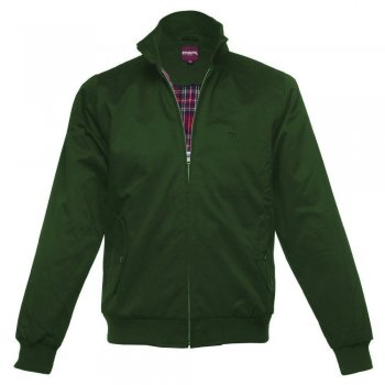Merc London Vintage Retro Harrington Jacket Forest Green
