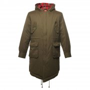 Merc London Vintage Tobias Fish Tail Parkas Combat Green